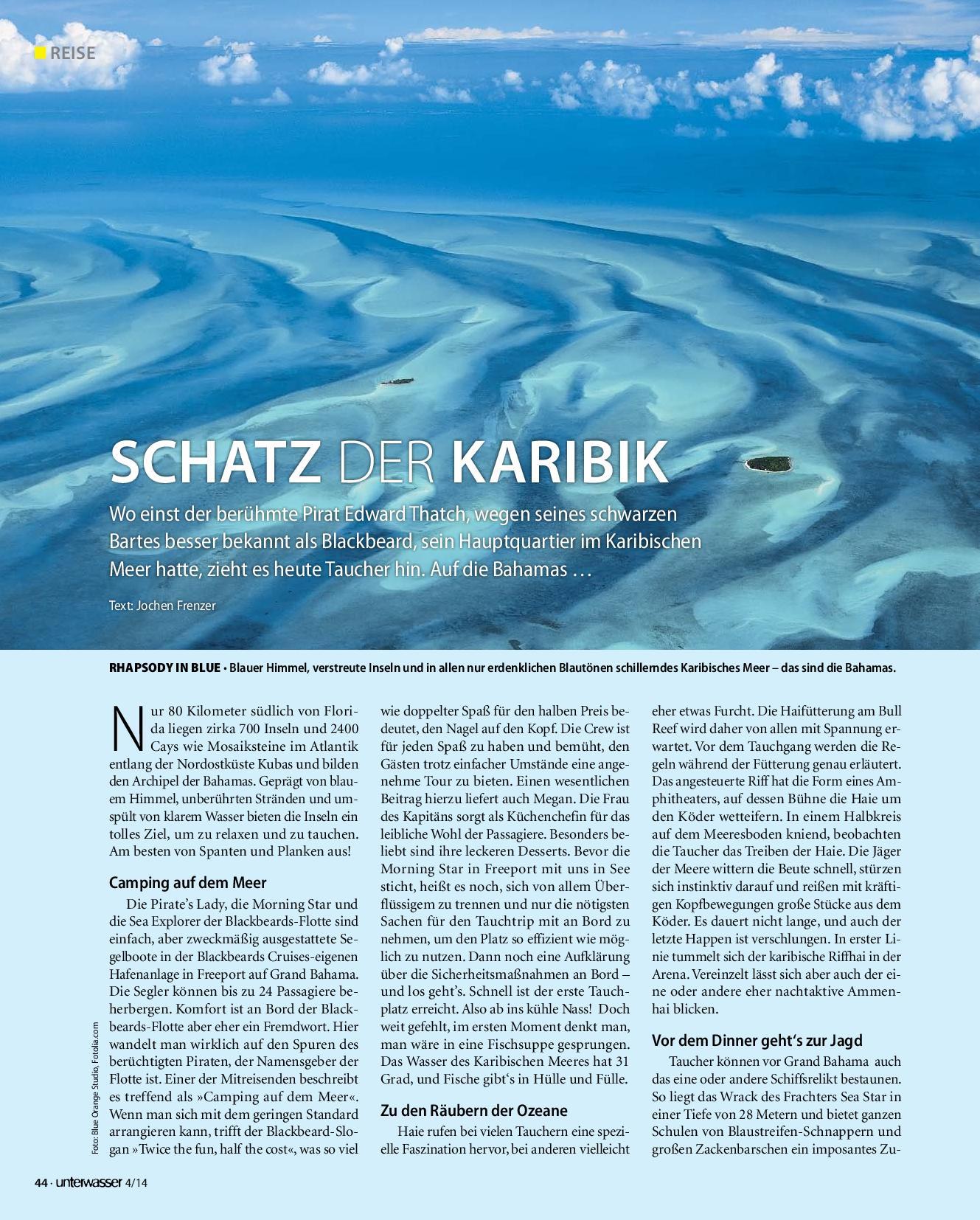 Unterwasser 04/2014 - Schatz der Karibik
